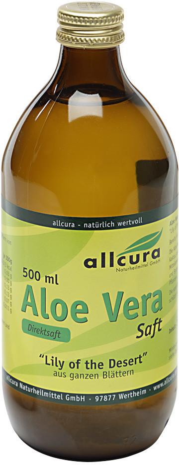 Allcura Aloe Vera Saft Ganzblatt (500 ml)