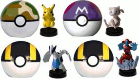 Bandai Spinning Figur & Pokemon Launcher