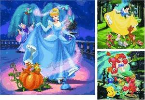 Disney Princess: Schneewittchen, Aschenputtel, Arielle 3 x 49 Teile Puzzle-Set von Ravensburger