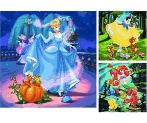 Ravensburger Disney Princess Schneewittchen Aschenputtel Arielle