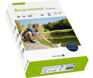 Papyrus 88031811 Recycling-Druckerpapier Recyconomic white 80 g//m² A4 500 Blatt