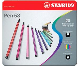 Schwan Premium-Filzstift STABILO ® Pen 68 20er Metalletui 20 Fasermaler sortiert