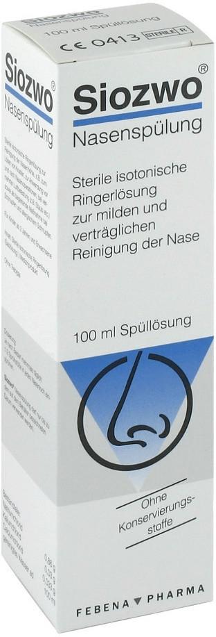 Siozwo Nasenspuelung Kons.Stofffrei (100 ml)