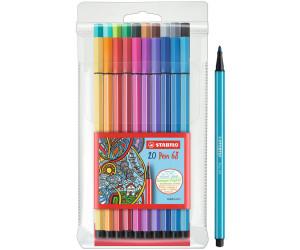 8er Kunststoff-Etui STABILO Fasermaler Pen 68