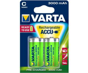 2 x VARTA Baby C Power Akku Ready 2 Use  56714  3000 mAh NiMH HR14 Accu Radio