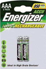 Image of Energizer 2x Rechargeable AAA 850 / HR03