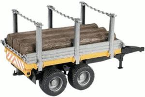 Bruder Holztransportanhänger mit 3 Baumstämmen (02213)