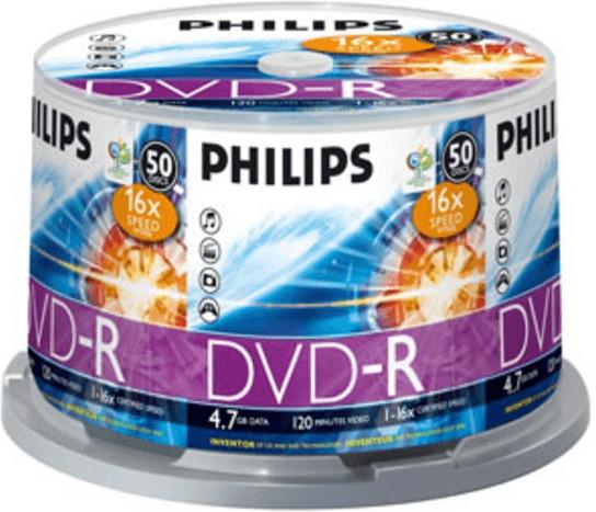 Philips DVD-R 4,7GB 120min 16x 50er Spindel