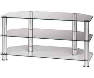 hama lcd plasma tv rack 1000 mm drei ablagen alu klarglas 11723 ab 136 90. Black Bedroom Furniture Sets. Home Design Ideas