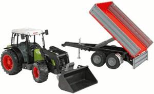 Bruder Claas Nectis 267 F Traktor mit Frontlader und Bordwandanhänger (02112)