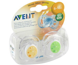 Image of Avent Dummy Freeflow Trend Silicone 6-18m