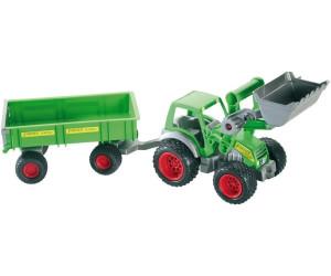 Wader farmer traktor mit frontlader und achs anhänger ab