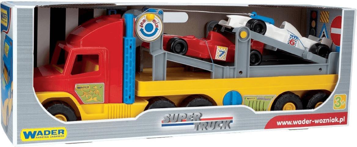 Wader Super Truck Autotransporter mit 2 Fahrzeu...
