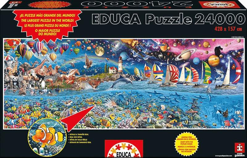 Educa Borrás Leben - Das größte Puzzle (24.000 Teile)