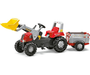 Rolly Toys rollyJunior RT rot mit Lader und Farm Trailer (811397)