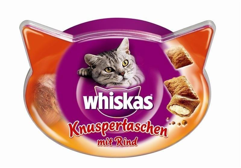 Whiskas Knusper-Taschen Rind (60 g)