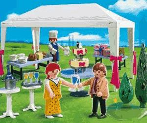 Playmobil Hochzeit Hochzeitsgäste im Partyzelt (4308)