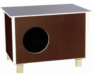 elmato katzenhaus outdoor 60 x 40 x 40 cm ab 49 80. Black Bedroom Furniture Sets. Home Design Ideas