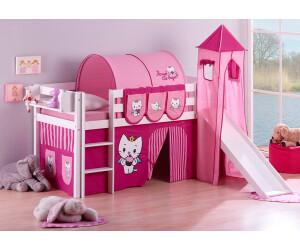 Etagenbett Hochbett Spielbett Kinderbett Jelle 90x200cm Vorhang : Lilokids jelle mit rutsche und turm angel cat sugar ab
