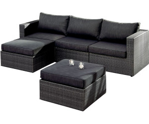 Rattan lounge anthrazit  Best Aruba Lounge-Set 5-tlg. anthrazit (98895053) ab 978,72 ...