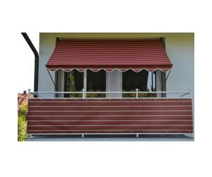 angerer klemm markise 150 x 150 cm rot ab 89 99 preisvergleich bei. Black Bedroom Furniture Sets. Home Design Ideas