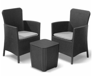 allibert miami balkon loungeset 3 tlg ab 117 71 preisvergleich bei. Black Bedroom Furniture Sets. Home Design Ideas
