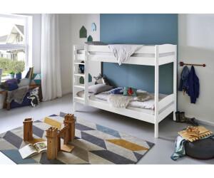 Etagenbett Relita : Relita etagenbett finley weiß lackiert kissen blau