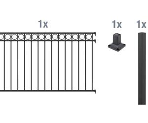 Bevorzugt GAH-Alberts Circle Metall-Zaun-Anbauset 2 x 1 m ab 209,98 ZX61