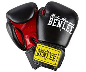 Everlast Boxhandschuhe Fighter Leder schwarz rot Sparring Kickboxen