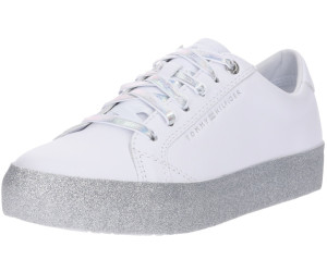 huge selection of 8c652 37cdd Tommy Hilfiger Glitter Logo Trainers (FW0FW03962) white ab ...