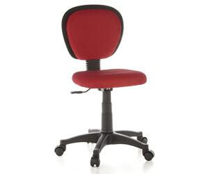 HJH Office Chaise de bureau enfant Kiddy Top rouge au