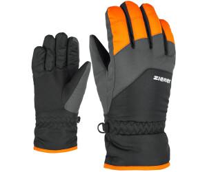 Ziener Kinder Alpine-Ski-Handschuhe Skihandschuhe LANDO glove grau orange